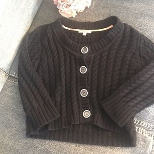 Burberry cropped cable cardigan